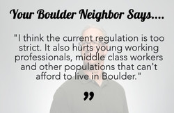 Your Boulder Neighbor Says..