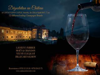 Pe 13 Mai, degustăm regele vinului și vinul regilor: 12 șampanii, la Castelul Cantacuzino!