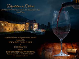 Cea de-a patra degustare de vin de la Castelul Cantacuzino aduce, pe 14 ianuarie, în prim-plan frumo