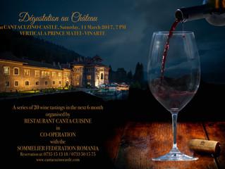 Premieră la Degustation au Chateau Verticala Prince Matei, pe 11 martie, la Castelul Cantacuzino