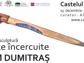 Lucrări ale sculptorului Maxim Dumitraș, realizate din lemn, alamă și cupru, la Castelul Cantacuzino