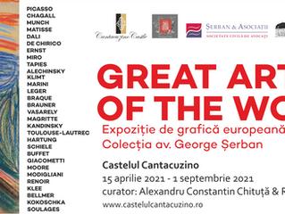 """Klimt, Renoir, Picasso, Matisse și Munch se întâlnesc, la Castelul Cantacuzino, în expoziția """"Great"""