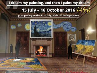 """""""MOVING van GOGH"""": Holograma pictorului Vincent van Gogh, instalații audio-video și floare"""