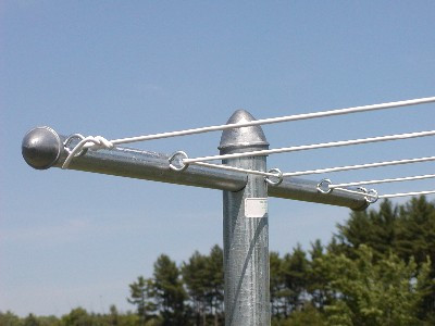 Metal T Post t-post clothesline, heavy-duty | the clothesline shop, heavy-duty