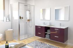 Salle de bains Keria_Aubergine