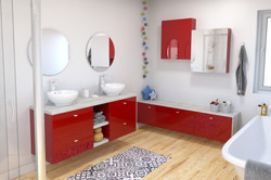 Salle de bains  Stecia_Rouge