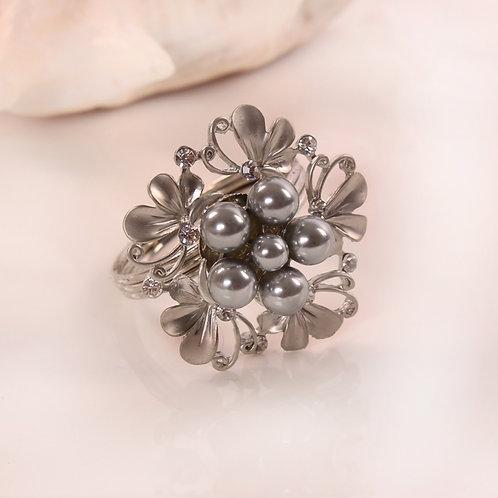 Silver Rhinestone Napkin Ring