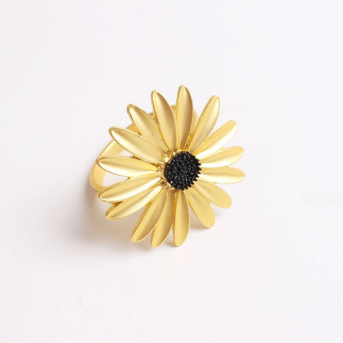 Fashion Gold Sunflower Daisy Napkin Ring