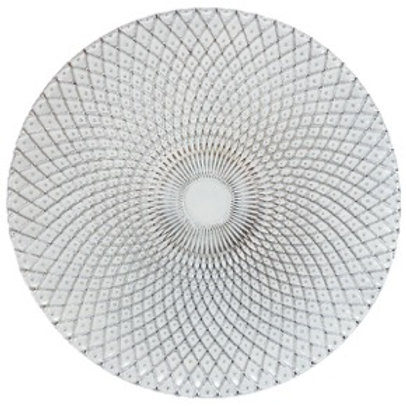 Silver Clear Glass Charger Plate