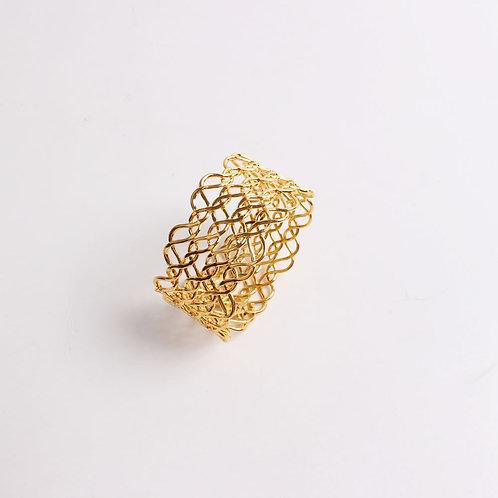 Gold Weave Napkin Ring