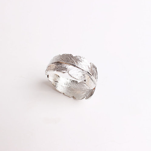 Silver Feather Napkin Ring