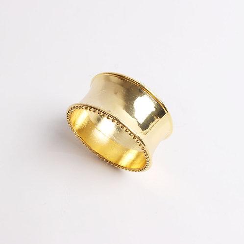 Solid Brass Round Gold Napkin Ring