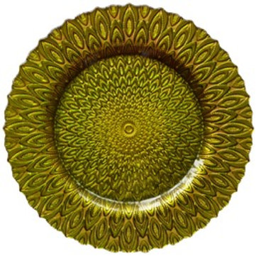 Citron Peacock Charger Plate