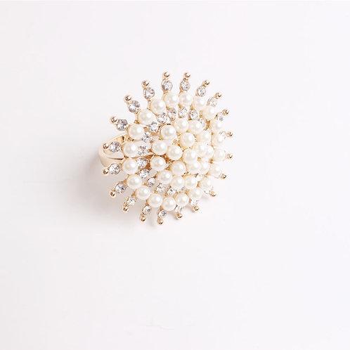 Pearl Rhinestone Napkin Ring