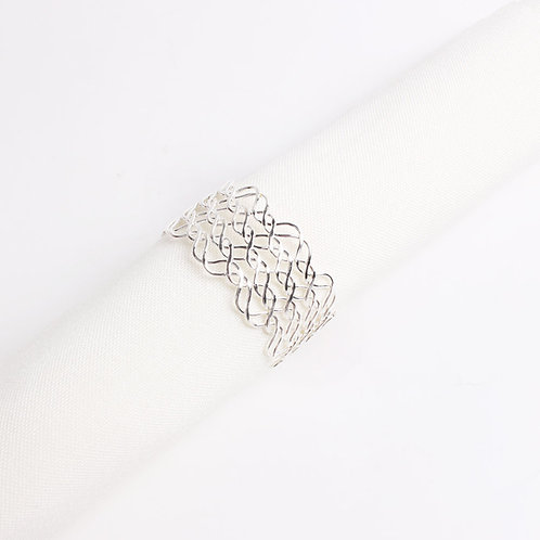 Silver Weave Napkin Ring