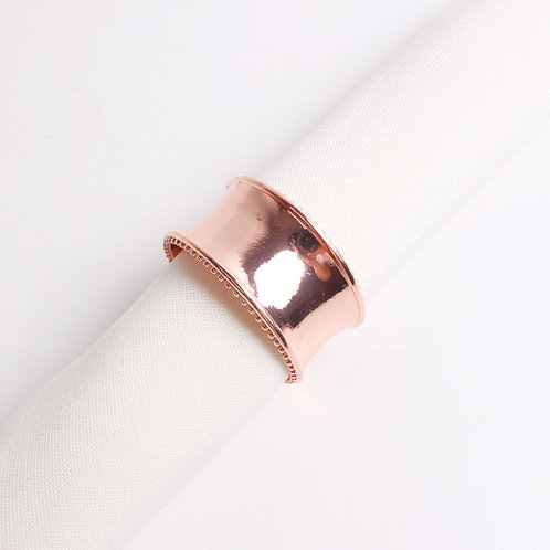 Solid Brass Rose Gold Napkin Ring