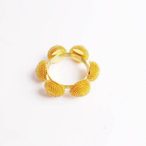 Golden Seed Napkin Ring