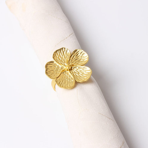 Gold Flower Napkin Ring