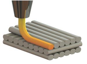 Impresión 3D FDM agrenado capas de filamentp