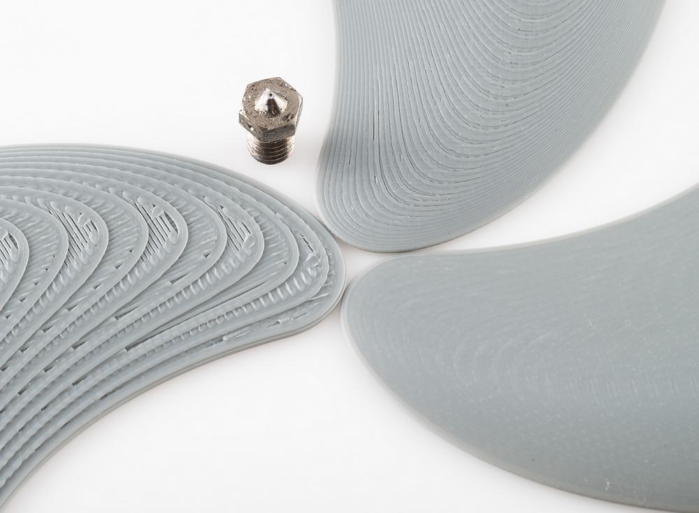 Distintas resolución de impresión en el mismo modelo 3D