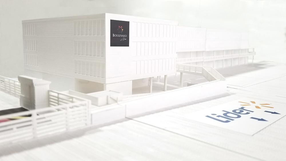 Maqueta Impresa en 3D, realizada en base a planos de AutoCAD