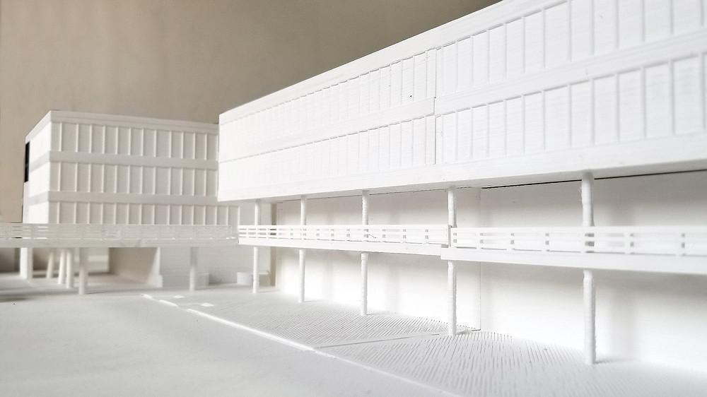 Se recomienda imprimir detalles como barandas y pilares de forma separada para conseguir la mejor calidad posible