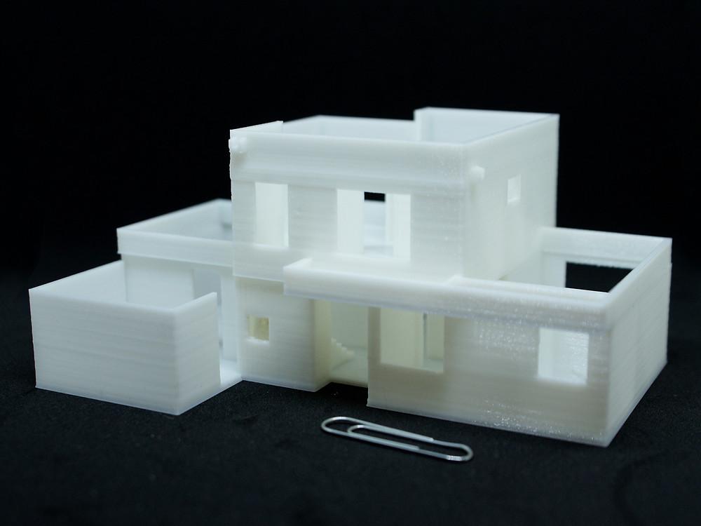 Maqueta impresa de menos de 8 cm de largo. Se mantienen todos los detalles de una maqueta de mayor tamaño.