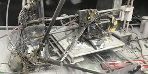 Impresora 3D incendiada