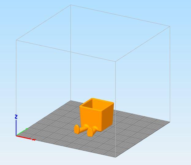 Modelo en software para simulación de impresión 3D