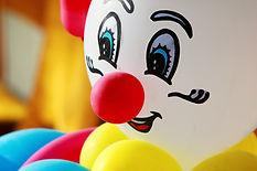Kleurrijke ballon clownb