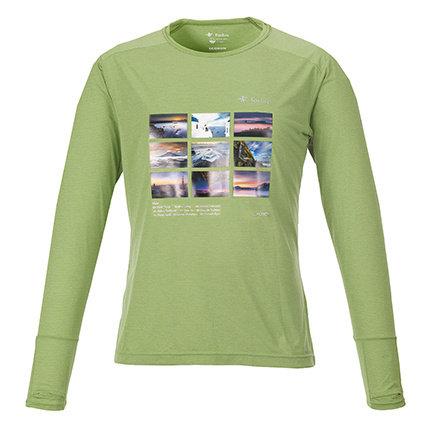 ロングTシャツ ライトグリーンL