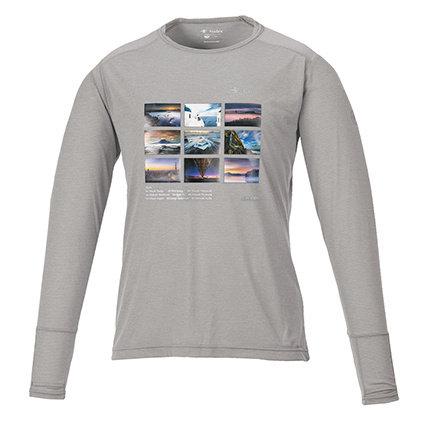 ロングTシャツ グレーL(KANIオリジナルプリント防虫仕様)