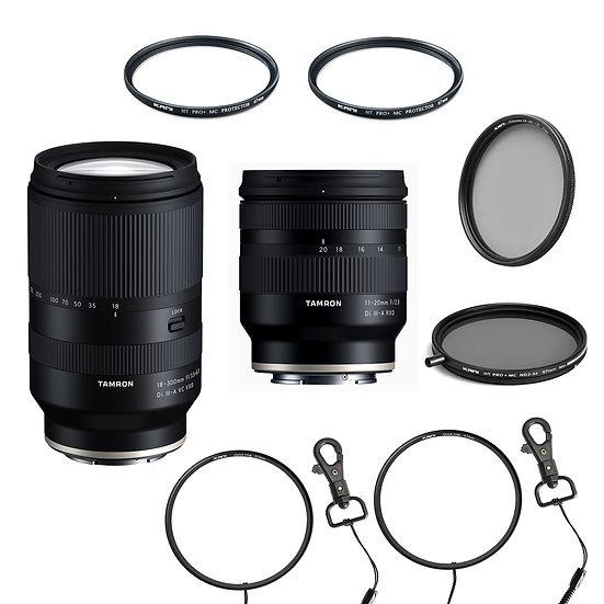 Tamron 11-20mm / 18-300mm レンズ2本+フィルターセット