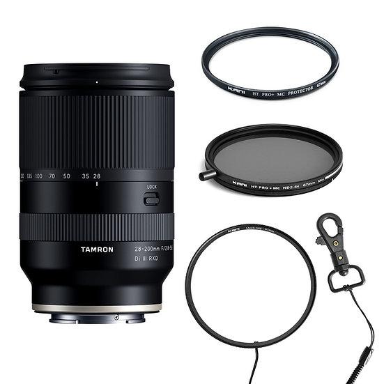 Tamron 28-200mm F2.8-5.6 DiⅢ RXD + ND2-64 + プロテクター + クイックリングセット
