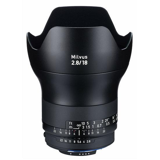Carl Zeiss Milvus 18mm F2.8 / ZF.2 MF NikonF Mount