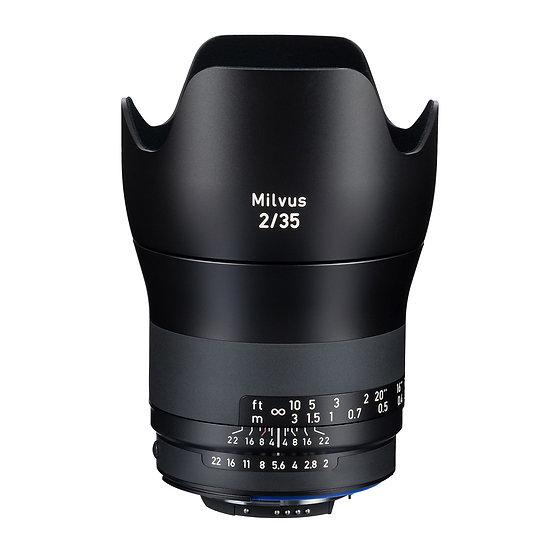 Carl Zeiss Milvus 35mm F2 / ZF.2 MF NikonF Mount