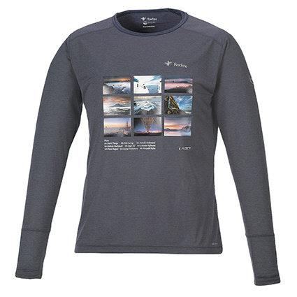 ロングTシャツ ネイビーM