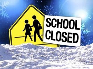 School Closed - Fri 1st Feb 2019