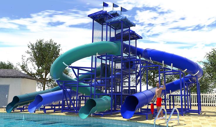 312 Pool Side Slide