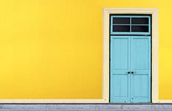 Yellow blue door