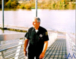 AAA Security officer on bridge
