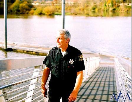 AAA Security officer on bridge