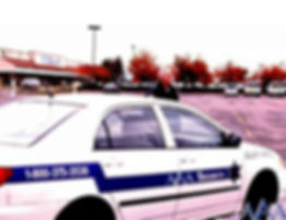 AAA Security officer monitoring parking lot with vehicle