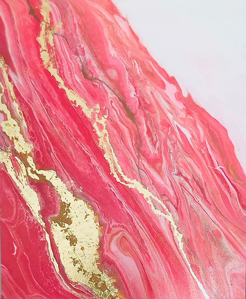 """""""Marshmallow Gold"""" painting"""