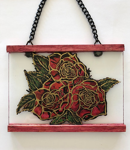 Roses glass hanger
