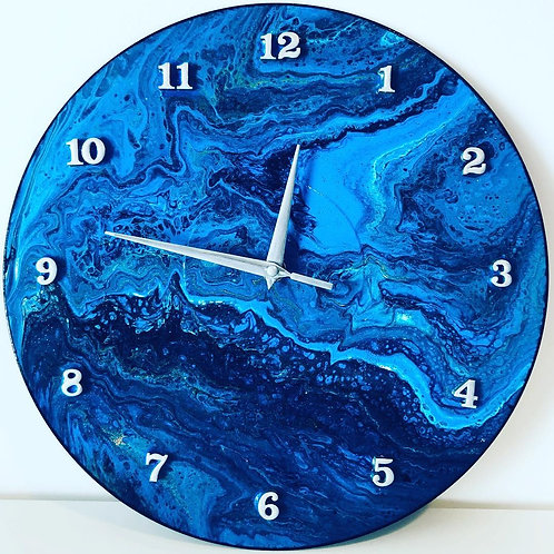 Blue and Silver clock