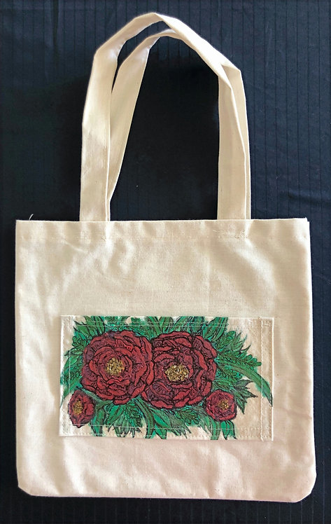 Roses small tote bag