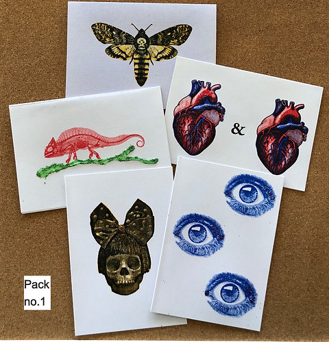 Assorted cards, pack of 5