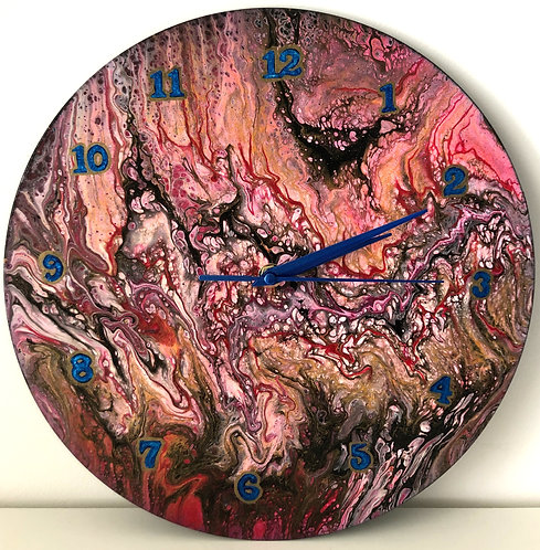 Pink and Blue clock