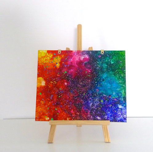 Upcycled multicoloured perspex